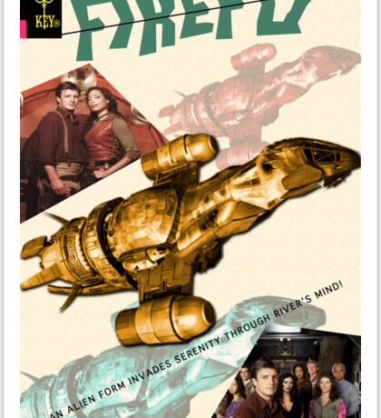 Firefly Vintage Comics Cover (Serenity) Sticker