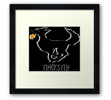 Trickster Coyote Steals Fire Framed Print