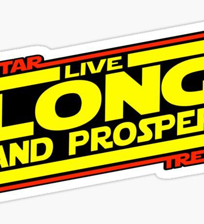 Live Long & Prosper Strikes Back Sticker