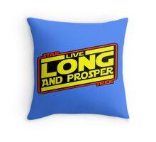 Live Long & Prosper Strikes Back Throw Pillow