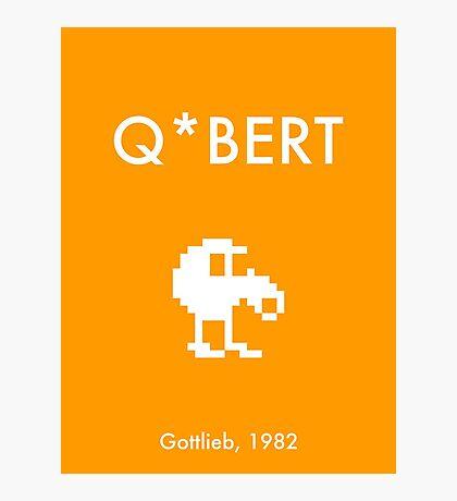 Q*bert (Poster) Photographic Print