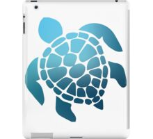 Blue Ombre Sea Turtle iPad Case/Skin