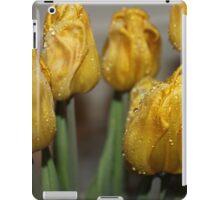 bright rain drop tulips iPad Case/Skin