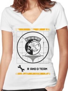 Metal Gear Solid MSF R&D Team Shirt Women's Fitted V-Neck T-Shirt