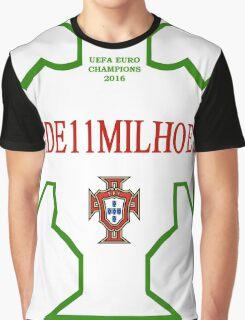 #1DE11MILHOES PORTUGAL EURO FINAL 2016 FRANCE Graphic T-Shirt