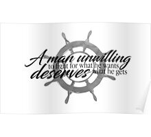 A Man Unwilling to Fight (Wheel Design) Poster