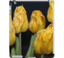 Dark yellow rain drop  tulips iPad Case/Skin