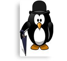 umbrella penguin Canvas Print