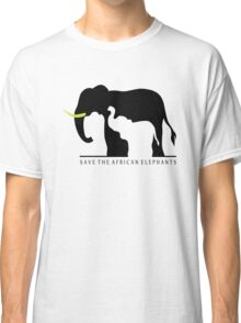 Save the African Elephants (White Background) Classic T-Shirt