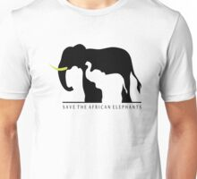 Save the African Elephants (White Background) Unisex T-Shirt