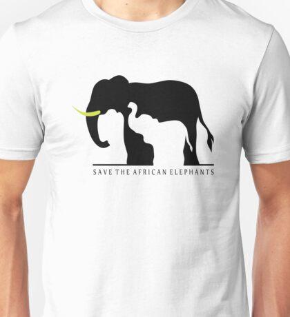 Save the African Elephants (White Background) Unisex T-Shirt