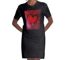 HEART ART 3 Graphic T-Shirt Dress