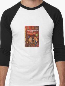 Pulp Fiction Cover of Arthur C. Clarke's Childhood's End Men's Baseball ¾ T-Shirt