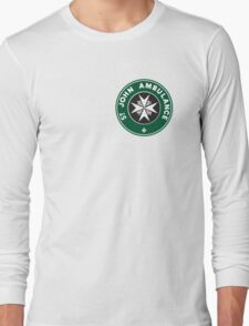 TARDIS St. John Ambulance Starbucks Logo Long Sleeve T-Shirt
