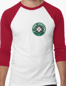 TARDIS St. John Ambulance Starbucks Logo Men's Baseball ¾ T-Shirt