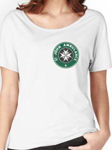 TARDIS St. John Ambulance Starbucks Logo Women's Relaxed Fit T-Shirt