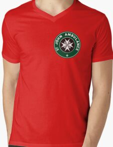 TARDIS St. John Ambulance Starbucks Logo Mens V-Neck T-Shirt
