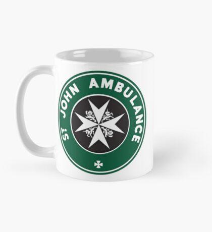 TARDIS St. John Ambulance Starbucks Logo Mug
