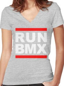 Run BMX Women's Fitted V-Neck T-Shirt