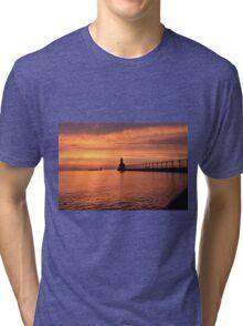 Light house sunset Tri-blend T-Shirt