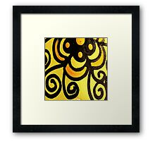 Funky Yellow Framed Print