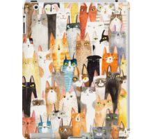 Multi-colored cat pattern  iPad Case/Skin