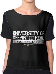 University of Keepin' It Real Chiffon Top
