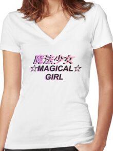 MAGICAL GIRL Women's Fitted V-Neck T-Shirt