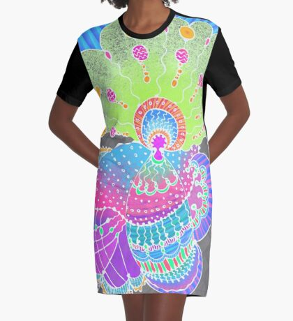 Underwater King Graphic T-Shirt Dress
