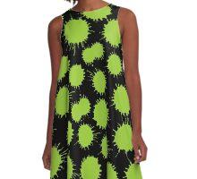 Inky Blots - Martian Green A-Line Dress