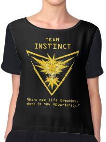 Pokemon GO Team Instinct Inspired Chiffon Top