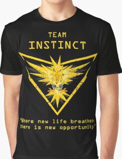 Pokemon GO Team Instinct Inspired Graphic T-Shirt