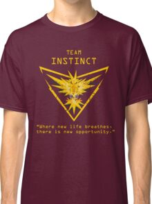 Pokemon GO Team Instinct Inspired Classic T-Shirt