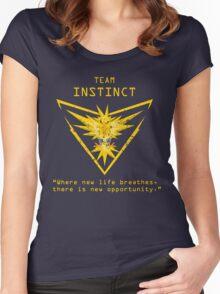Pokemon GO Team Instinct Inspired Women's Fitted Scoop T-Shirt