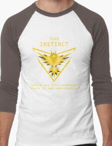 Pokemon GO Team Instinct Inspired Men's Baseball ¾ T-Shirt