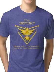 Pokemon GO Team Instinct Inspired Tri-blend T-Shirt