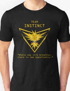 Pokemon GO Team Instinct Inspired Unisex T-Shirt