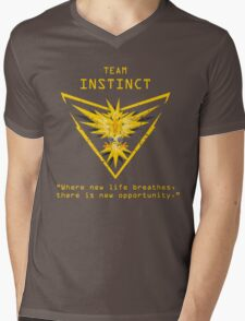 Pokemon GO Team Instinct Inspired Mens V-Neck T-Shirt