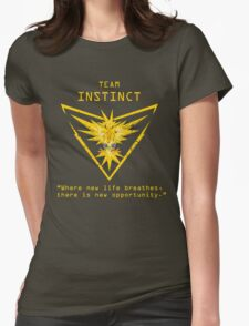 Pokemon GO Team Instinct Inspired Womens Fitted T-Shirt