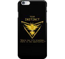 Pokemon GO Team Instinct Inspired iPhone Case/Skin
