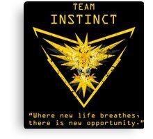 Pokemon GO Team Instinct Inspired Canvas Print