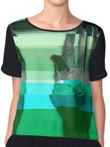 Port Robinson Glitched Worlds Chiffon Top