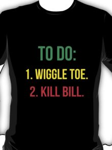 Black Mamba's To Do [GYR] T-Shirt