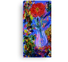 electric flowers Canvas Print