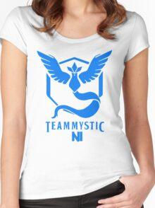 Pokemon Go Team Mystic NI Women's Fitted Scoop T-Shirt
