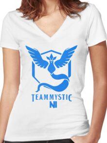 Pokemon Go Team Mystic NI Women's Fitted V-Neck T-Shirt