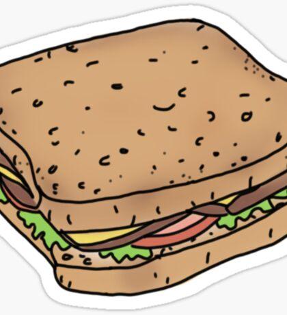 just a plain sandwich Sticker