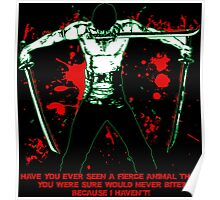 Roronoa Zoro The Fierce Animal (Black Version) Poster