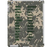Military Alphabet iPad Case/Skin