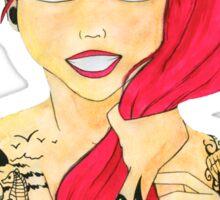 Tattooed Redhead Sticker